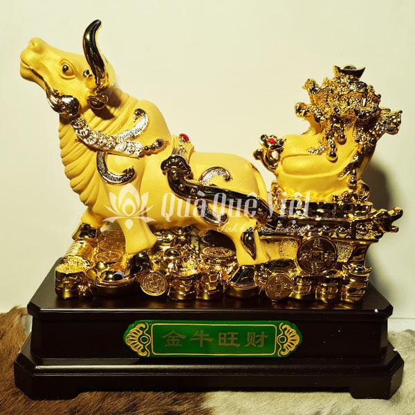 Trâu Vàng Kéo Bắp Cải, Vật Phẩm Phong Thủy Năm Tân Sửu